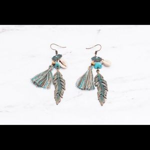 Jewelry - Long tassel fringe bohemian earrings